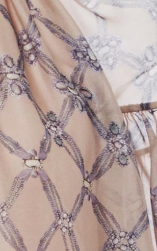 Diamond Print Pleated Silk Blouse by ALENA AKHMADULLINA for Preorder on Moda Operandi