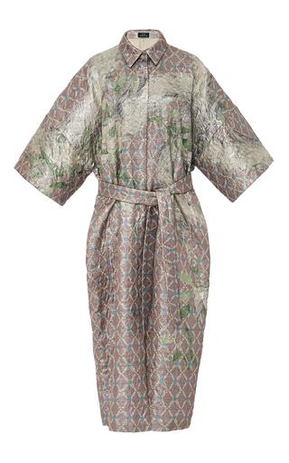 Drop Shoulder Metallic Dragon Coat  by ALENA AKHMADULLINA for Preorder on Moda Operandi
