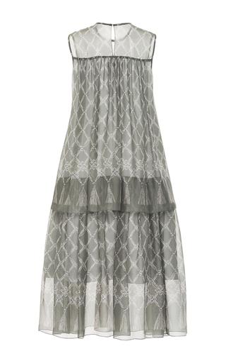 Diamond Print Silk Overlay Dress  by ALENA AKHMADULLINA for Preorder on Moda Operandi