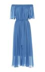 Off The Shoulder Silk Midi Dress  by ALENA AKHMADULLINA for Preorder on Moda Operandi