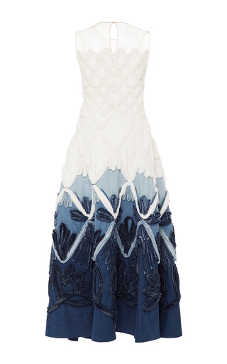 Couture Denim A Line Gown by ALENA AKHMADULLINA for Preorder on Moda Operandi