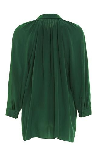 Three Quarter Sleeve Gathered Silk Shirt  by ALENA AKHMADULLINA for Preorder on Moda Operandi