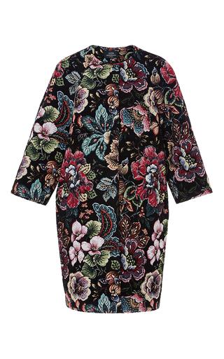 Medium alena akhmadullina print embroidered flower coat