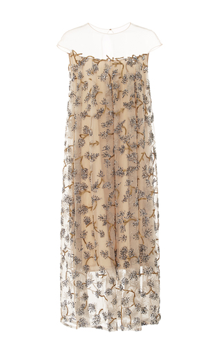 Embroidered Sequin Cap Sleeve Midi Dress by ALENA AKHMADULLINA for Preorder on Moda Operandi