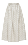 Quilted A Line Pleated Midi Skirt by ALENA AKHMADULLINA for Preorder on Moda Operandi
