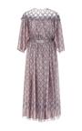 Diamond Print Collar Detail Belted Silk Midi Dress by ALENA AKHMADULLINA for Preorder on Moda Operandi