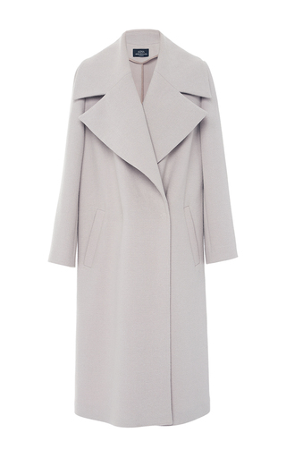 Medium alena akhmadullina purple oversized duster coat