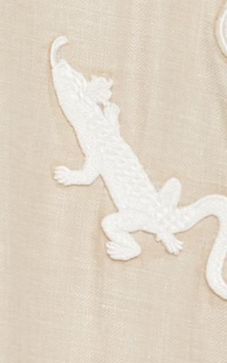 Embroidered Net Collar Midi Dress by ALENA AKHMADULLINA for Preorder on Moda Operandi