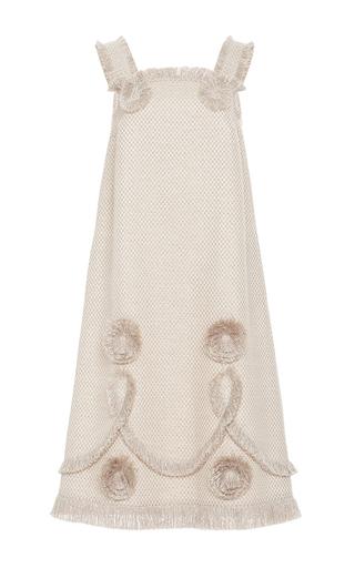 Embroidered Fringe A Line Sleeveless Dress by ALENA AKHMADULLINA for Preorder on Moda Operandi