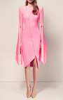 The Darcy Satin Crepe Zip Long Sleeve Split Lady Dress by ALEX PERRY for Preorder on Moda Operandi