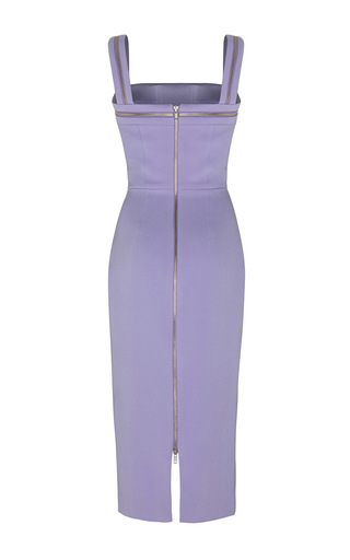 The Sophie Satin Crepe Zip Lady Dress by ALEX PERRY for Preorder on Moda Operandi