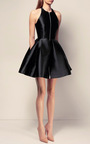 The Delany Silk Halter Open Back Mini Dress by ALEX PERRY for Preorder on Moda Operandi
