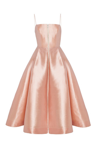 Medium alex perry nude the maeve silk strapless midi dress