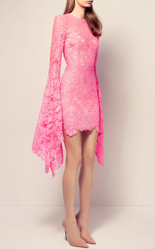 The Bartley Lace Long Sleeve Mini Dress With Slip by ALEX PERRY for Preorder on Moda Operandi