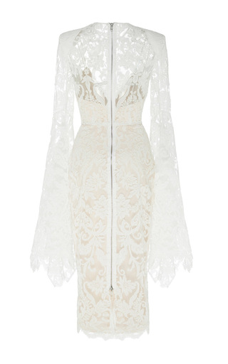 The Alaroy Lace Long Sleeve Lady Dress With Slip by ALEX PERRY for Preorder on Moda Operandi