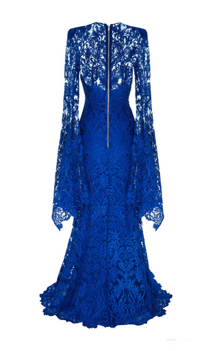 The Niamh Lace Long Sleeve Gown With Slip by ALEX PERRY for Preorder on Moda Operandi