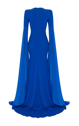 The Alana Satin Crepe Long Sleeve Split Gown by ALEX PERRY for Preorder on Moda Operandi