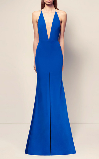 The Lena Satin Crepe Bikini Crinoline Gown by ALEX PERRY for Preorder on Moda Operandi