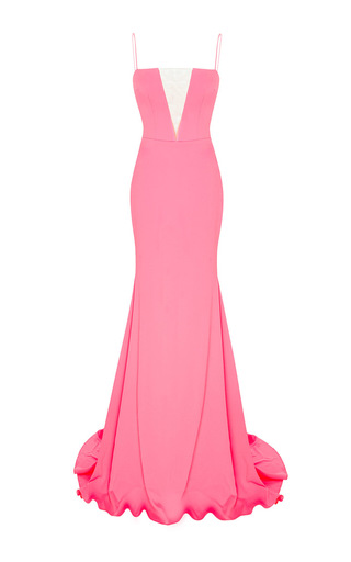 The Leia Satin Crepe Strapless Crinoline Gown by ALEX PERRY for Preorder on Moda Operandi