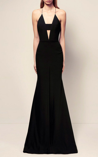 The Caera Satin Crepe Bikini Contrast Crinoline Gown by ALEX PERRY for Preorder on Moda Operandi