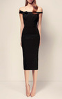 The Tierney Crystal Bow Front Lady Dress by ALEX PERRY for Preorder on Moda Operandi