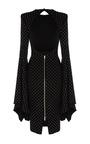 The Abbie Crystal Long Sleeve Split Lady Dress by ALEX PERRY for Preorder on Moda Operandi