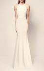 The Lucia Crystal Bow Open Back Gown by ALEX PERRY for Preorder on Moda Operandi