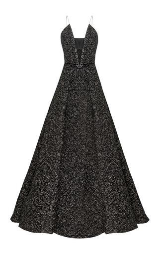 The Vaughn Lurex Floral Bikini Contrast Crinoline Gown by ALEX PERRY for Preorder on Moda Operandi