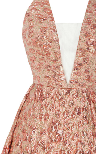 The Amelia Lurex Floral Bikini Crioline Gown by ALEX PERRY for Preorder on Moda Operandi