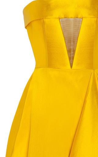 The Elsa Silk Strapless Crinoline Cuff Gown by ALEX PERRY for Preorder on Moda Operandi