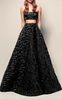 The Abigail Silk Floral Strapless Gown by ALEX PERRY for Preorder on Moda Operandi
