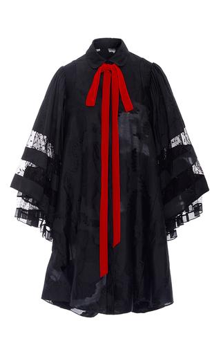 Silk And Cotton Jacquard Bell Sleeve Mini Dress by ADAM LIPPES for Preorder on Moda Operandi