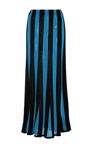 Medium adam lippes stripe ribbed silk knit skirt