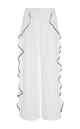 Satin Crepe Wide Leg Pant by ADAM LIPPES for Preorder on Moda Operandi