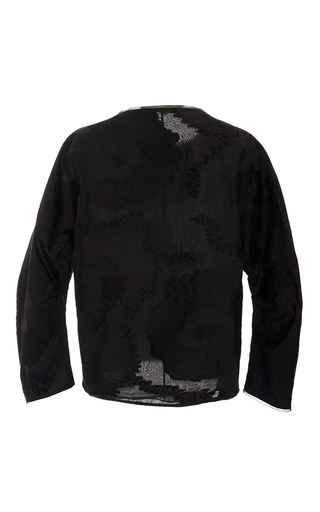 Silk And Cotton Jacquard Top by ADAM LIPPES for Preorder on Moda Operandi