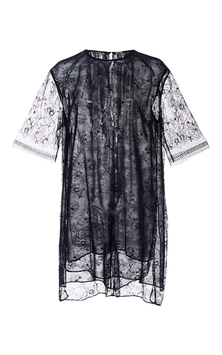 Chantilly Lace Short Sleeve Tunic by ADAM LIPPES for Preorder on Moda Operandi