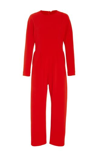 Medium adam lippes red stretch silk crepe jumpsuit