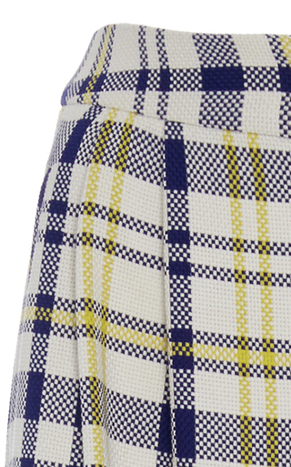 Plaid Cotton And Linen Wide Leg Pant by ADAM LIPPES for Preorder on Moda Operandi