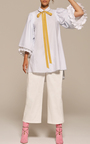 Japanese Cotton Bell Sleeve Tunic by ADAM LIPPES for Preorder on Moda Operandi