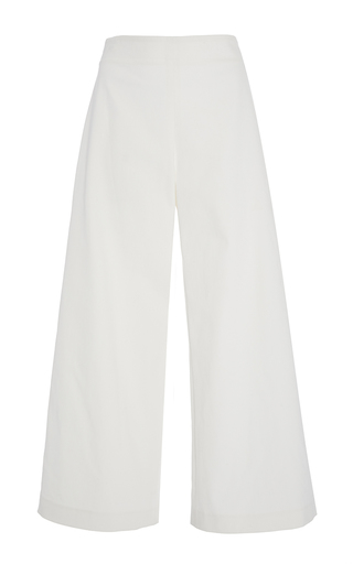 Denim Cropped Culotte by ADAM LIPPES for Preorder on Moda Operandi