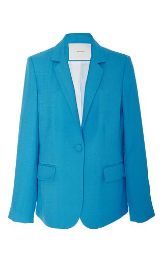 Linen And Silk Blazer by ADAM LIPPES for Preorder on Moda Operandi
