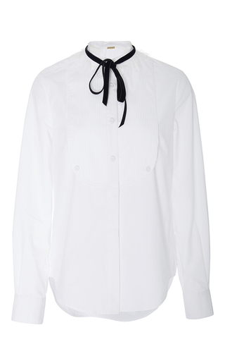 Chantilly Lace Trim Blouse by ADAM LIPPES for Preorder on Moda Operandi