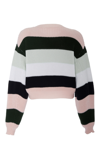 Striped Cotton Cropped Knit by ADAM LIPPES for Preorder on Moda Operandi
