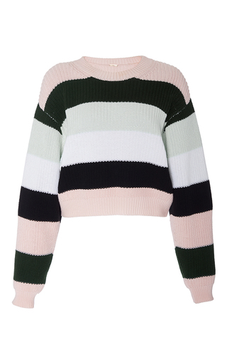 Medium adam lippes stripe striped cotton cropped knit