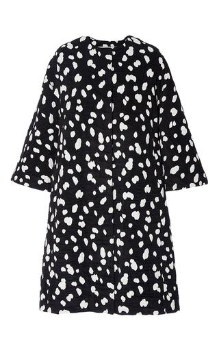 Medium adam lippes print dalmation cotton chenille jacquard opera coat