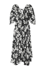 Floral Silk Crepe Flutter Sleeve Dress by ADAM LIPPES for Preorder on Moda Operandi
