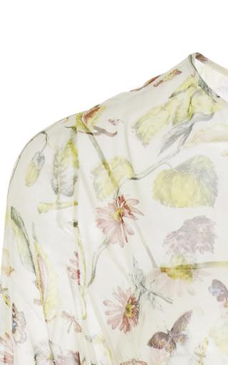 `paravicini' Floral Printed Silk Chiffon Dress by ADAM LIPPES for Preorder on Moda Operandi
