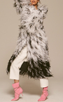 Ostrich Feather Embroidered Dalmation Print Coat by ADAM LIPPES for Preorder on Moda Operandi