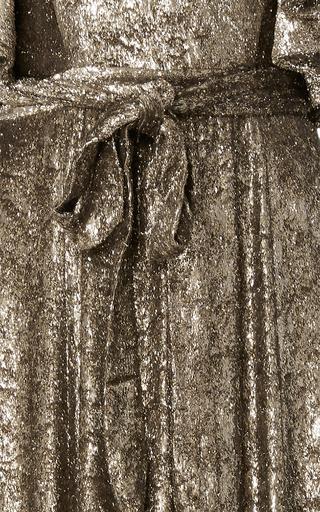 Velvet Flutter Sleeve Gown by CO for Preorder on Moda Operandi