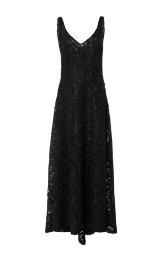 V Neck Lace Dress by CO for Preorder on Moda Operandi
